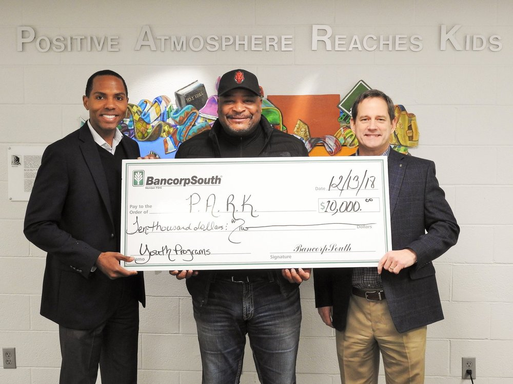 Bancorp South Donates to P.A.R.K.
