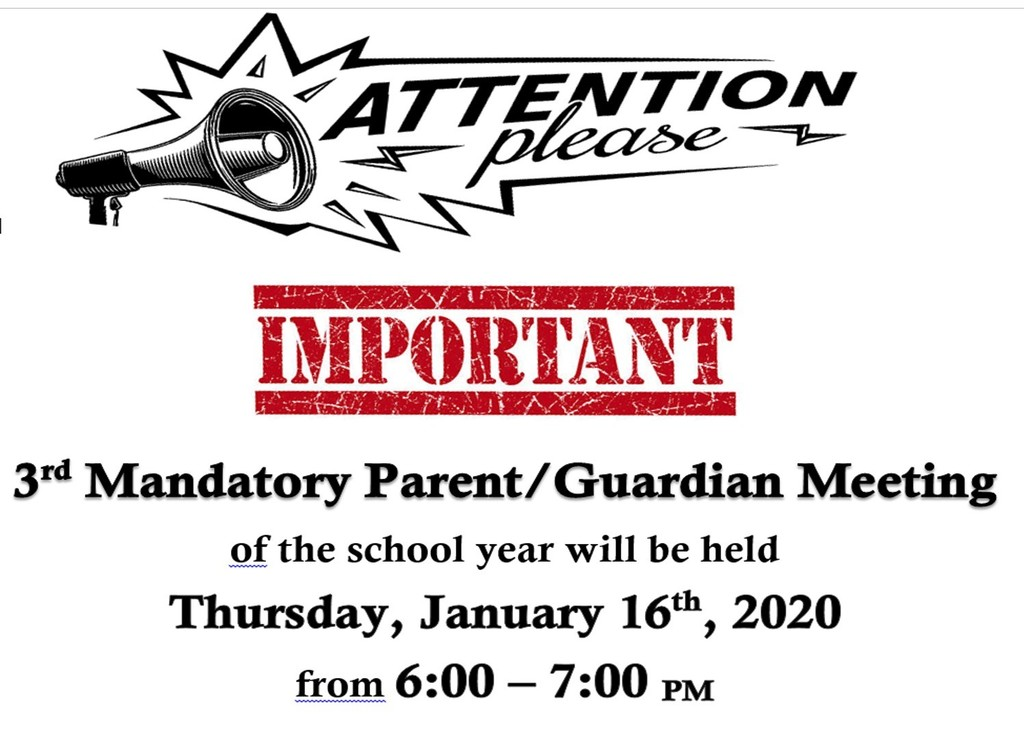 January 2020 Parent/Guardian Meeting Reminder