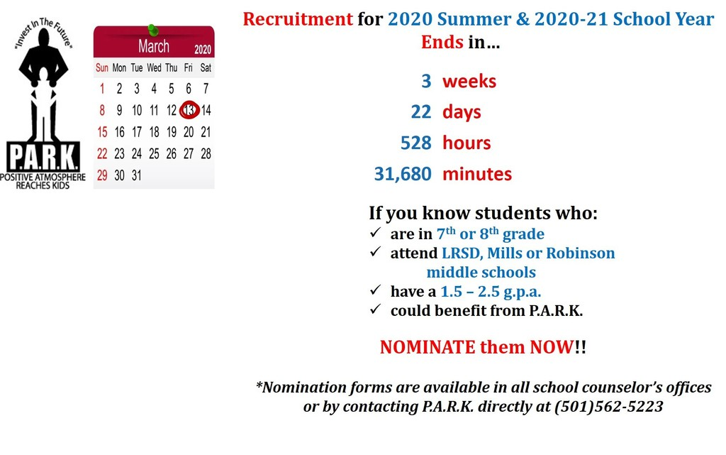 2020 Recruitment Countdown as of 2.20.20